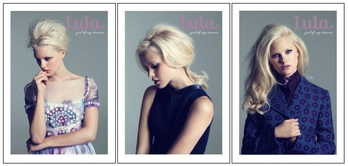 lula three covers hannah holman : chanel : emporio armani : miu miu : photo's by damian heath